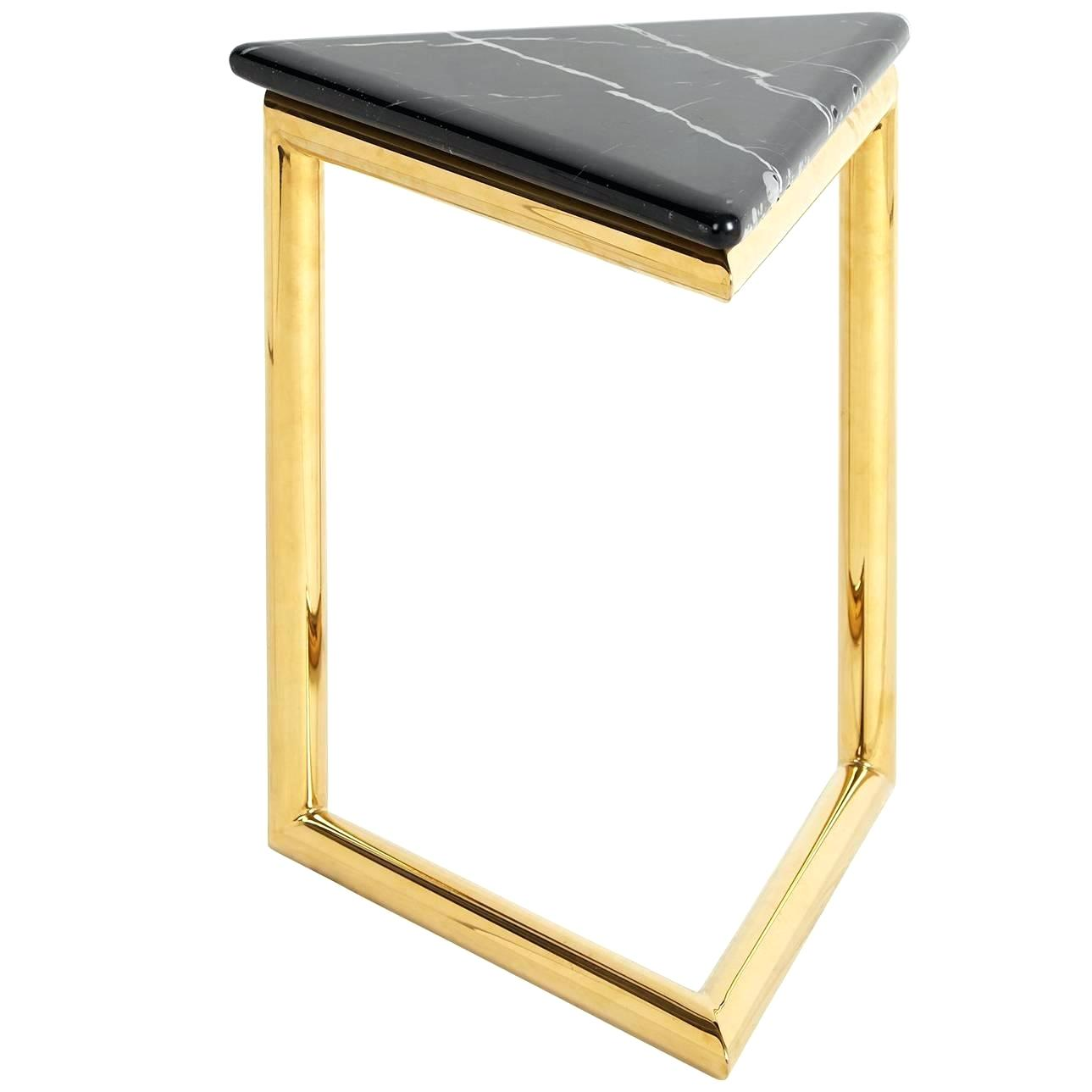 marble accent table white and gold small ultra triangle brass for threshold wood top target mid century modern dining room furniture ikea folding pottery barn rattan coffee black