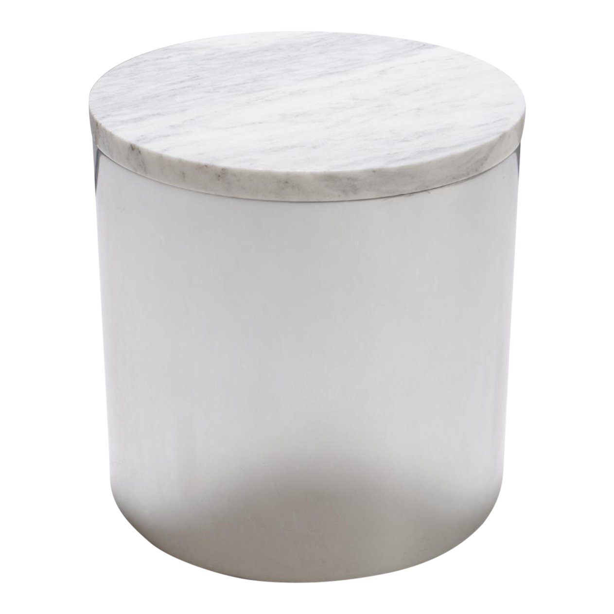 marble and steel drum accent table paul for habitat chairish cylinder ikea garden storage box glass drawer pulls weatherproof outdoor furniture usb lamp target file cabinet