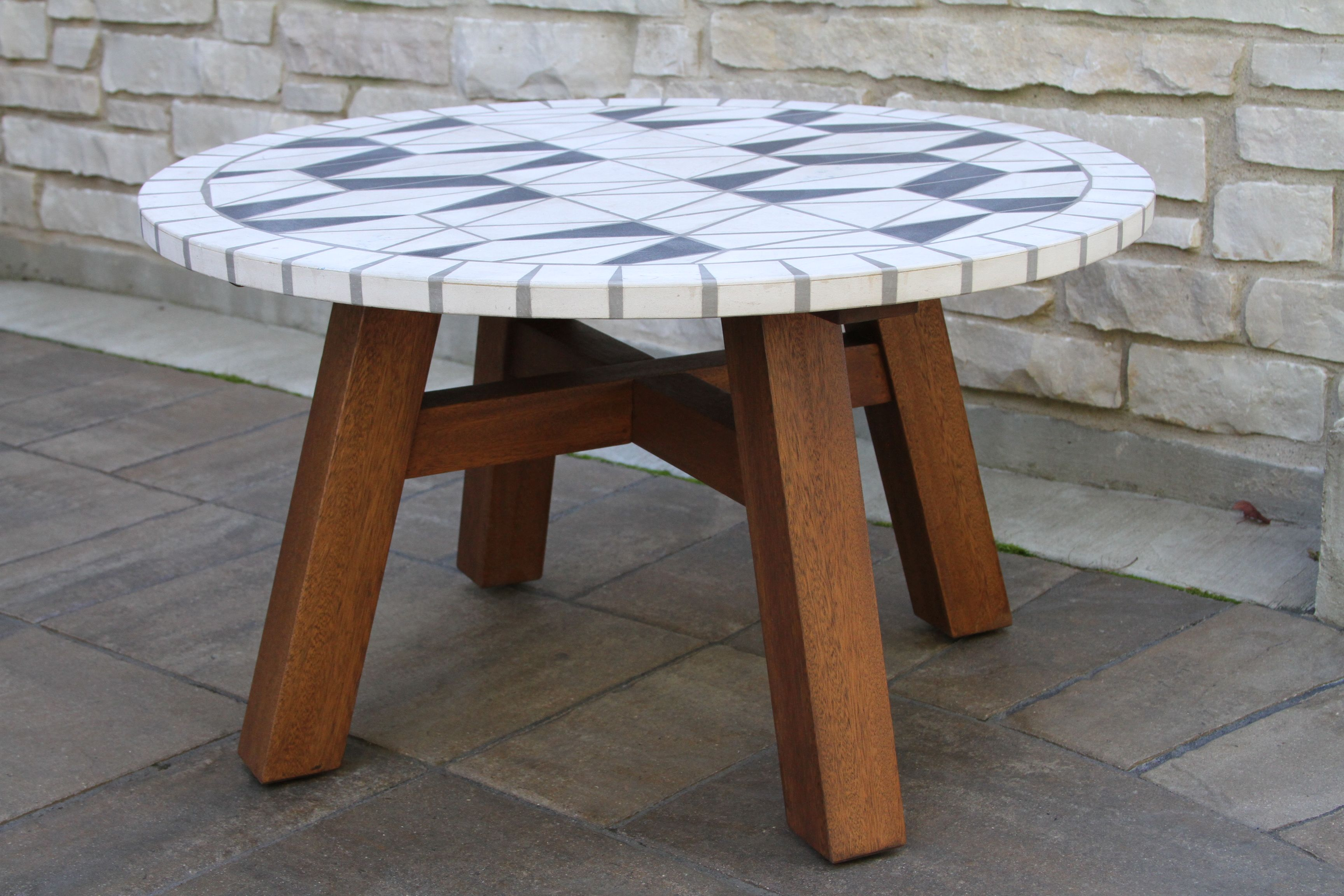 marble mosiac eucalyptus chat table decorative stone accent teak wood nook small round patio cover west elm track order cute side tables outdoor chairs for balcony sauder shoal