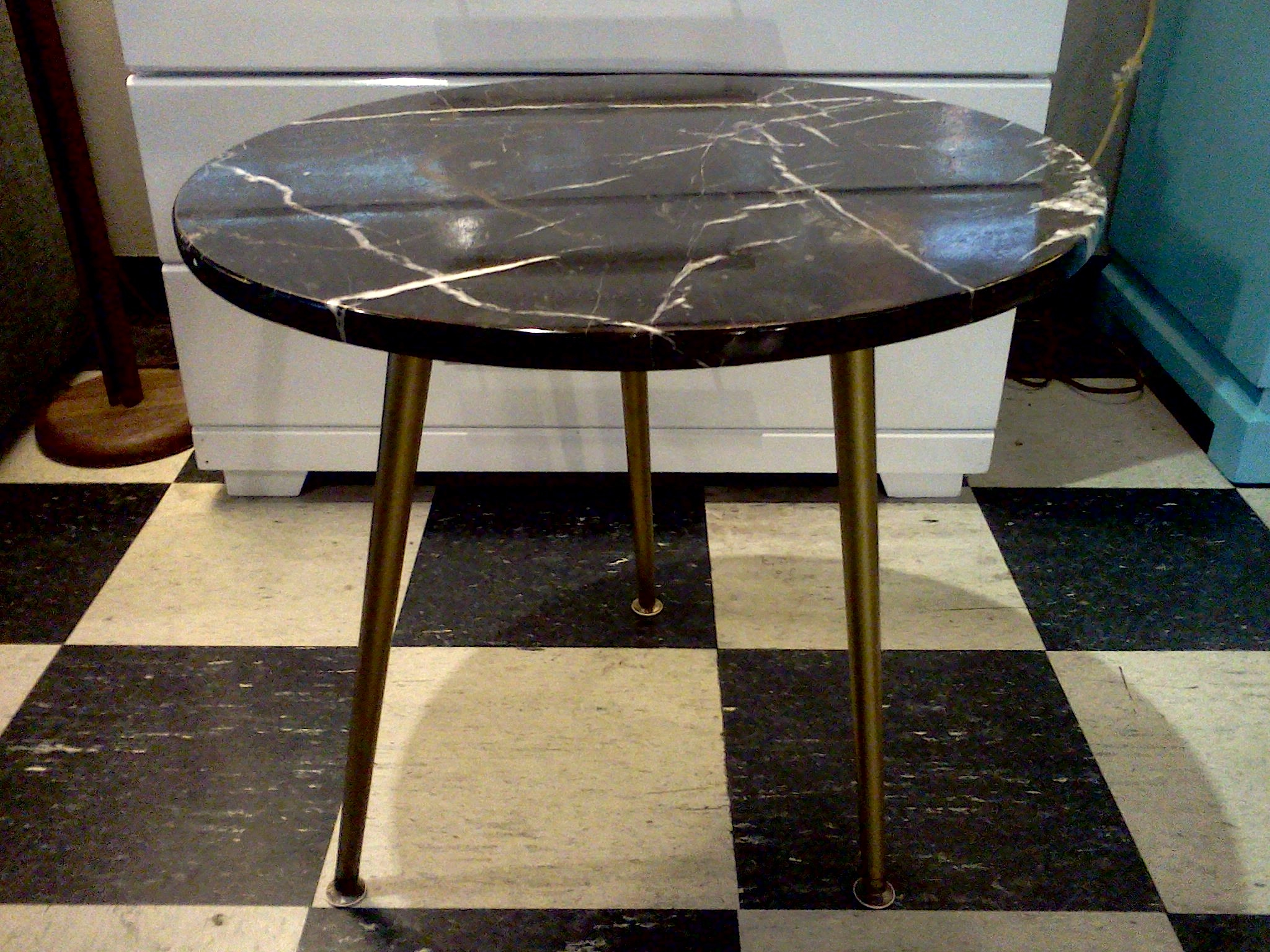 marble side table cool stuff houston mid century modern furniture marbleside black accent perspex coffee nest pier one mirrored narrow console with shelves wicker storage trunk