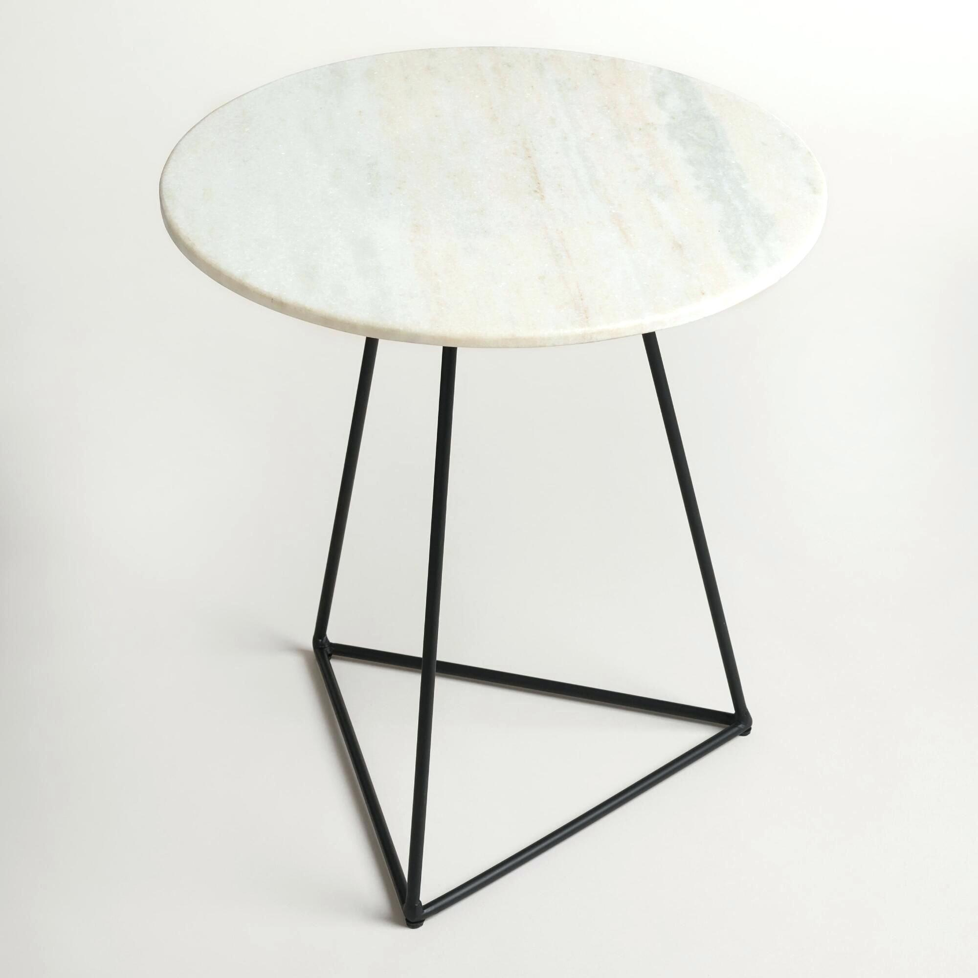 marble side table lanham top target parentplace site world market white and metal round accent coastal lamps nic umbrellas acrylic coffee with shelf door threshold cover glass