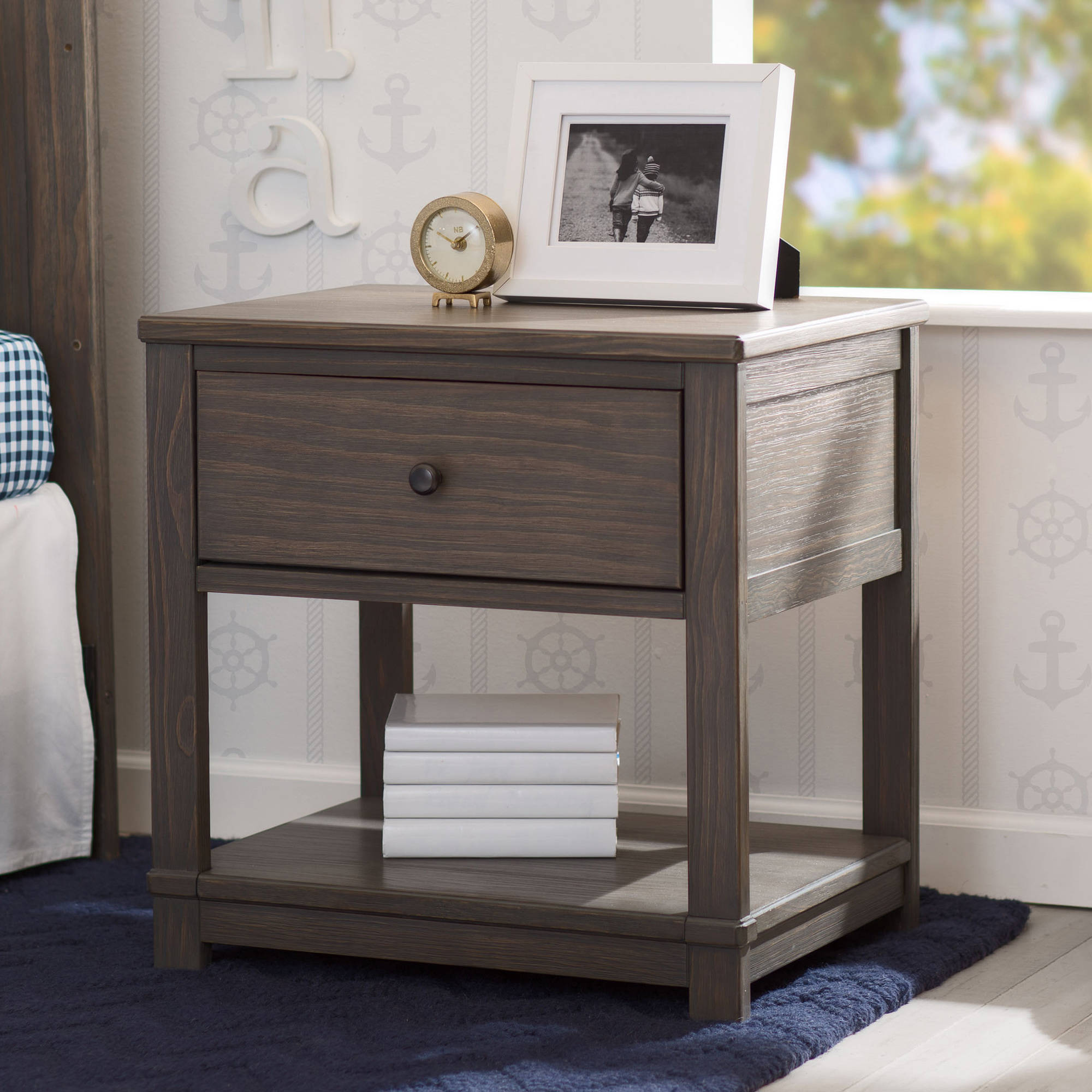 marble top kitchen table the terrific awesome mainstays nightstand delta children cali with drawer and shelf rustic grey end dark gray oak flexsteel furniture black coffee trunk