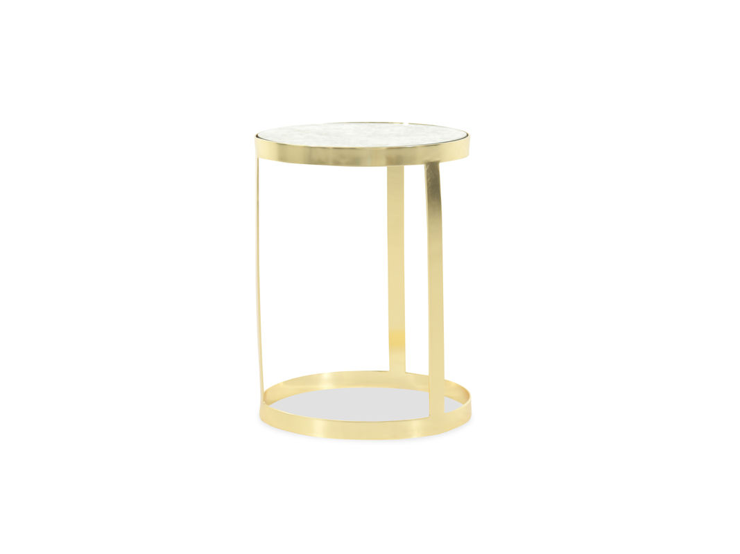 marble top traditional accent table gold mathis brothers furniture pul atop the base earthy with bamboo inspired texture complement shining making this irresistible piece teak