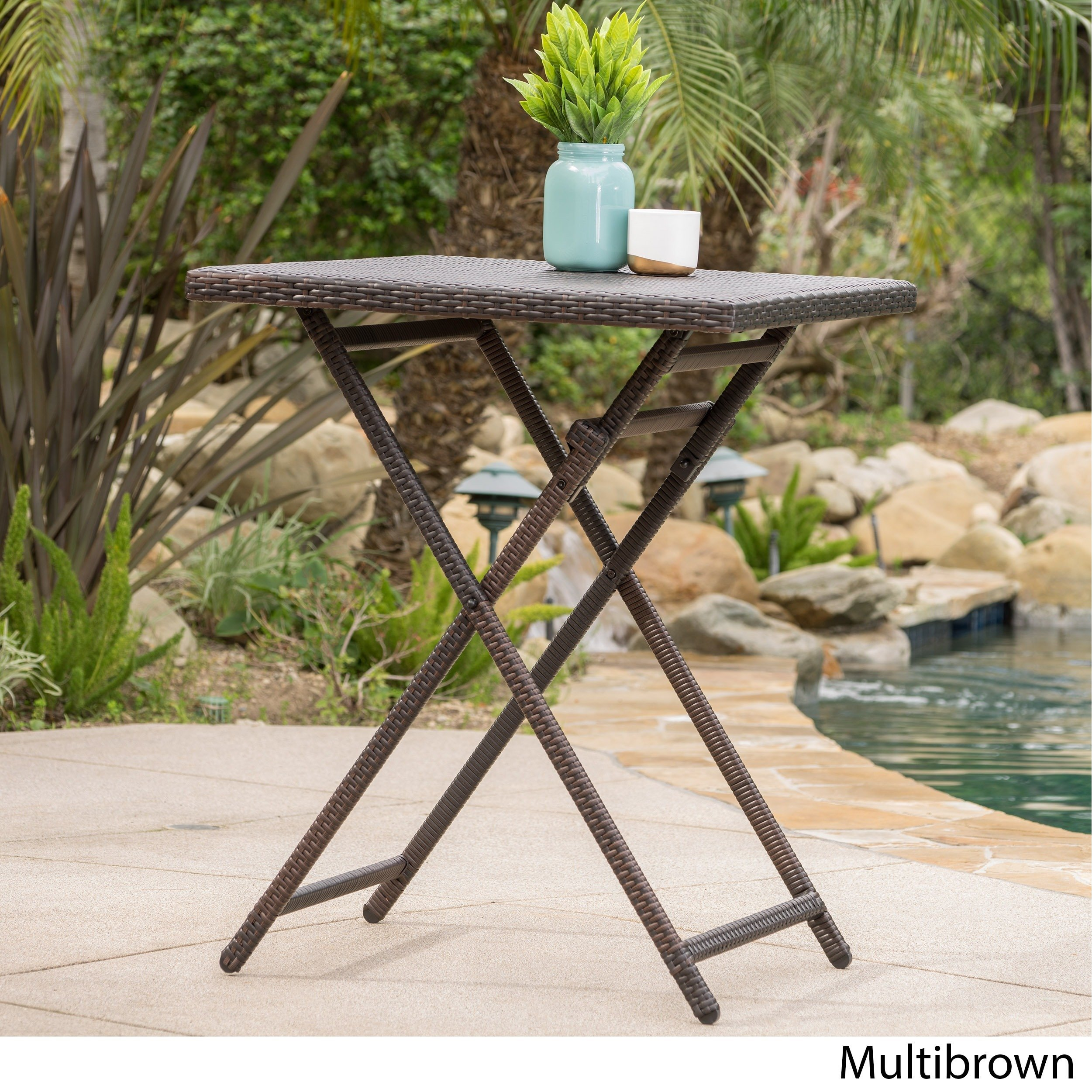 margarita outdoor wicker bar table christopher knight home foldable accent brown free shipping today cast metal nate berkus circular sofa oak glass coffee spring mattress low side