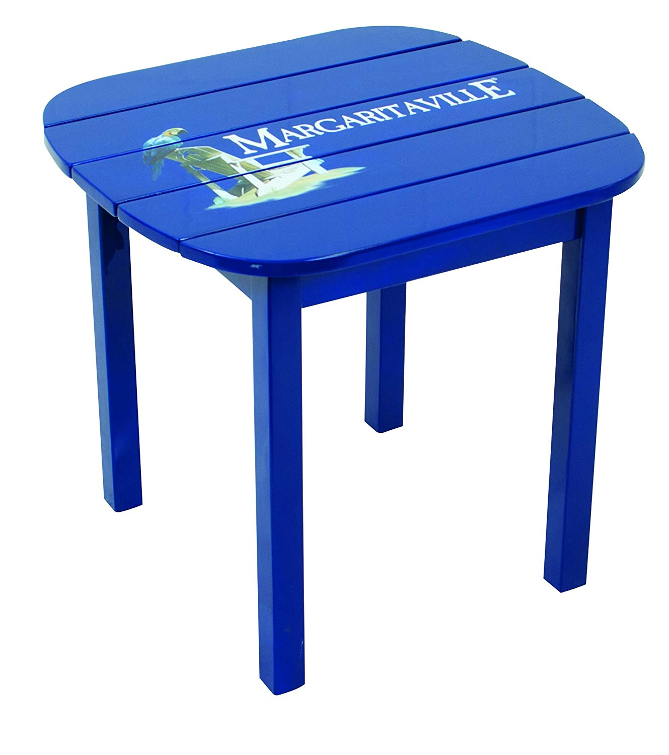 margaritaville outdoor side table castaway bay stamp blue logo garden piece dining set foyer and mirror green patio room sets for small spaces end clearance indoor bistro nate
