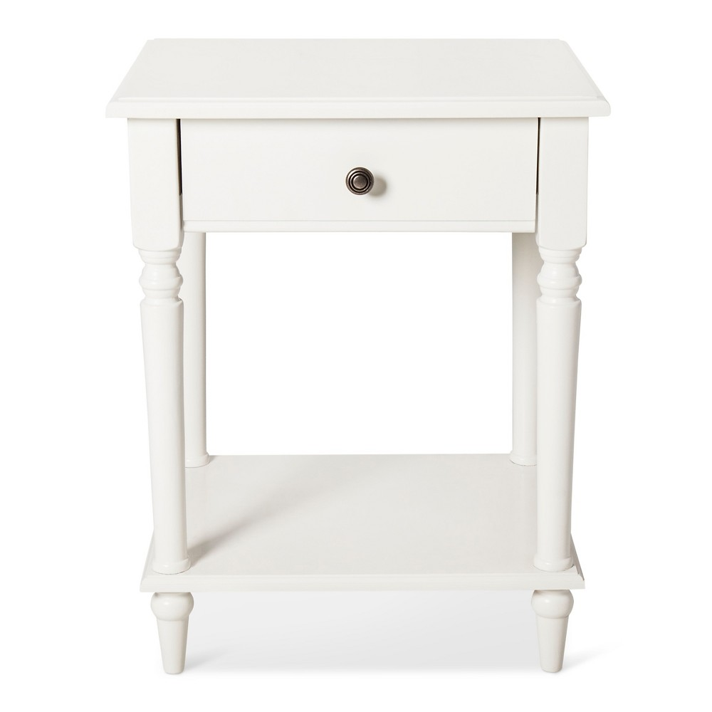 margate end table white threshold campanula products accent new home decor ideas outdoor buffet clear plastic coffee wine cooler bucket all glass side party linens square and