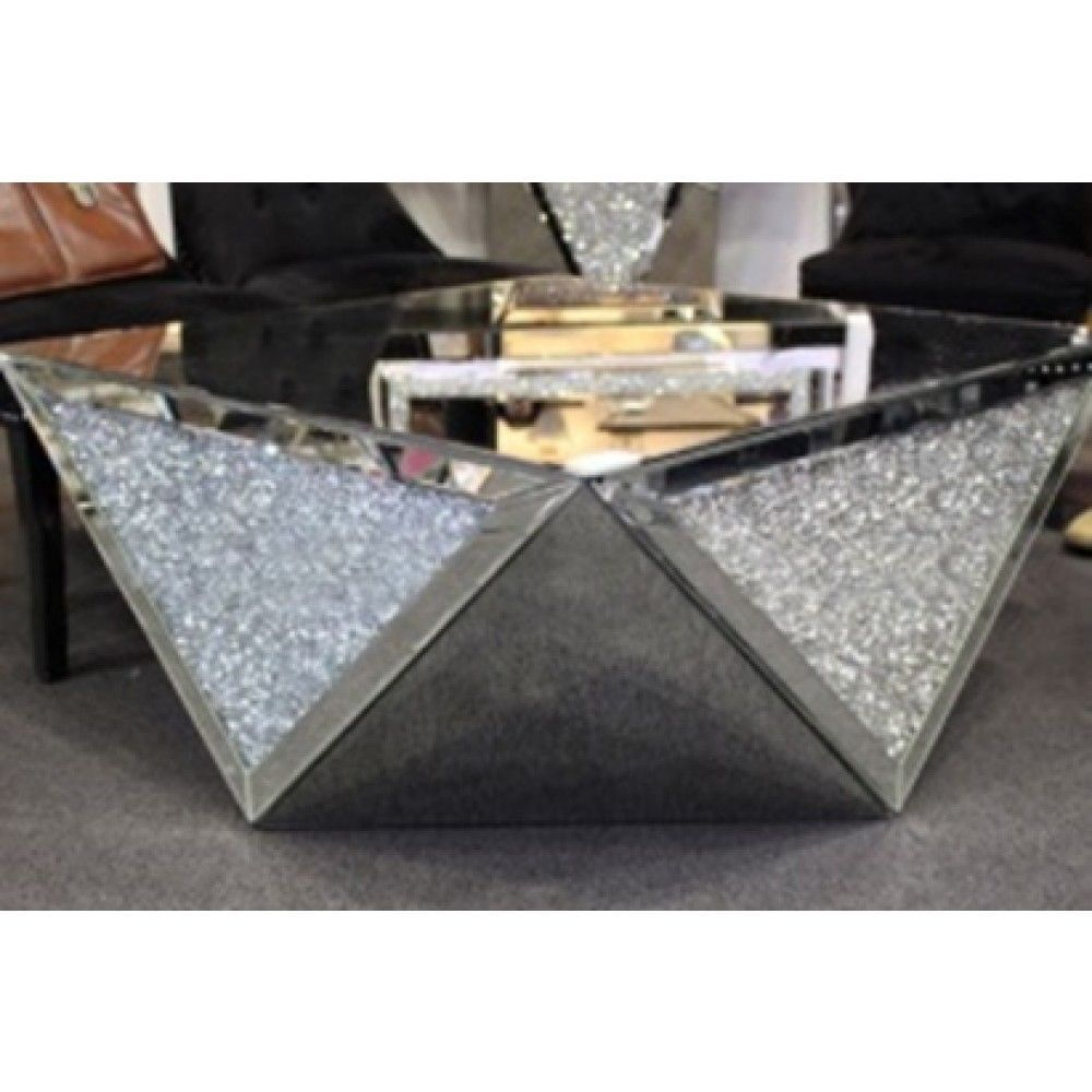 marilyn mirror end table lamp side bella interiors diamond mirrored accent square glitter sparkly glass crush crystal coffee bellainteriors modern couch sofa for small space