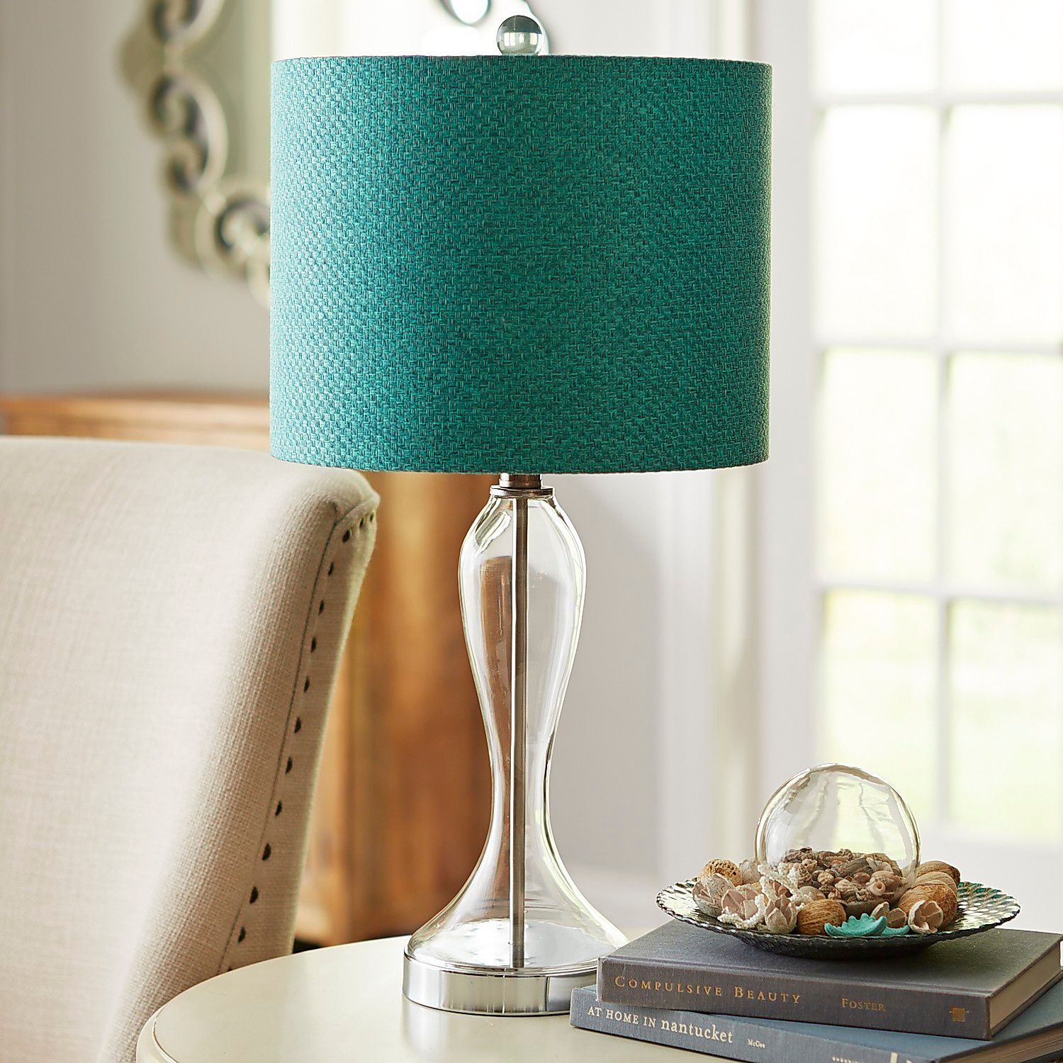 marine glass table lamp pier imports nautical accent lamps narrow console cabinet bathroom floor storage best outdoor umbrellas furniture made nest tables west elm light fixtures