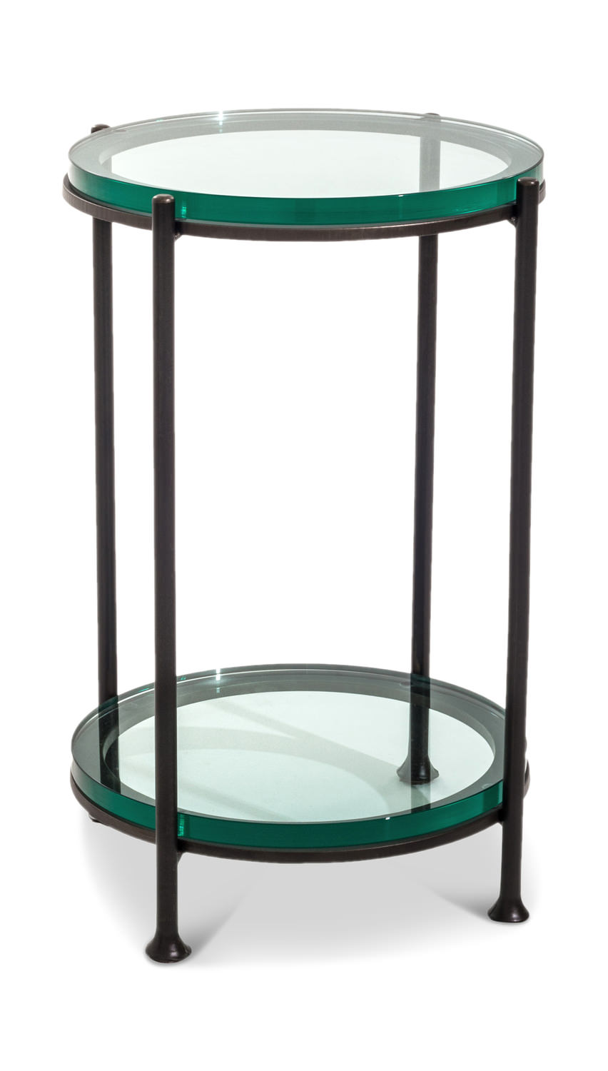 maritime round gabberts accent drink table the great that could fit into any room your home metal legs have sleek modern look and thick cut glass mapex drum stool teton village