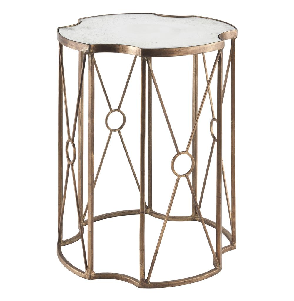 marlene hollywood gold leaf antique mirror end table inches product accent kathy kuo home garden bar ideas outdoor umbrella rope lamp modern with drawer family room decorating