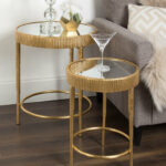 marley round piece modern accent nesting tables wood table pottery barn dining set pier chairs pine end gold and glass coffee umbrella stand base vintage tier side plastic garden 150x150