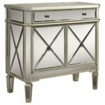 marlow mirrored accent table badcock more tables and chests small tall white sectional couch rustic macys tablecloth target threshold rug living room end decor drum throne with 150x150