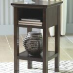 marnville dark brown accent table and gray gold lamp concrete top dining room outdoor nesting tables wedding reception decorations matching nightstands round cocktail cloths brass 150x150