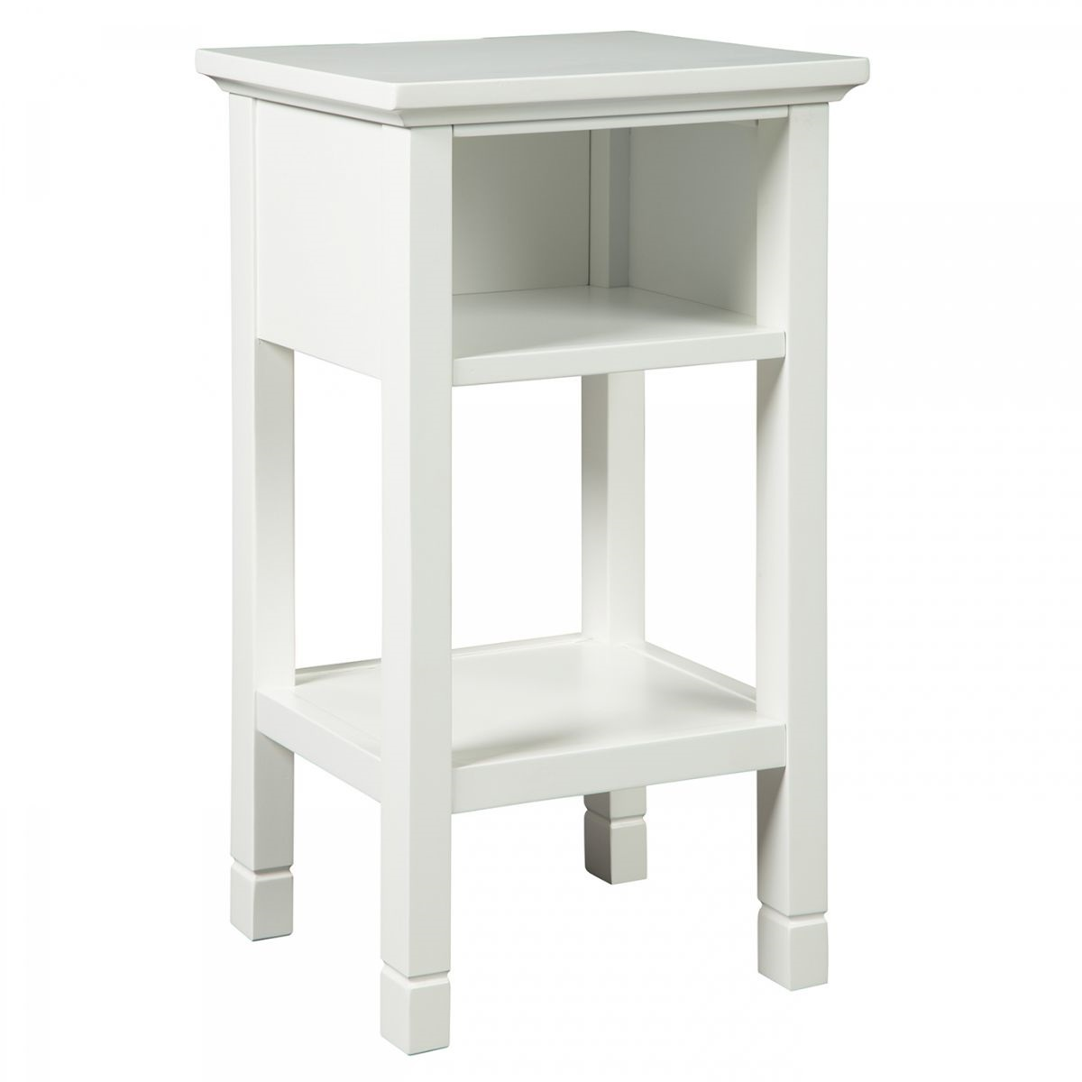 marnville white accent table with usb port badcock more ture nautical bedside lamps brown marble side closeout furniture skinny console storage round skirts decorator oval garden