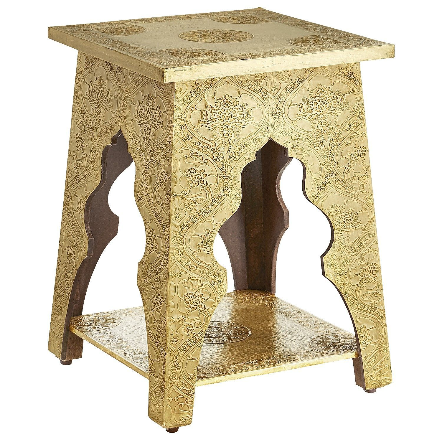 marrakesh accent table brass pier imports one tribe tables rustic wine rack home ornaments round dining for bar height legs mid century modern chairs chests and consoles concrete