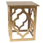 marrakesh accent table gold end with drawer vintage industrial side wrought iron base jofran high tables small outdoor patio whole living room furniture inch height nightstand 150x150