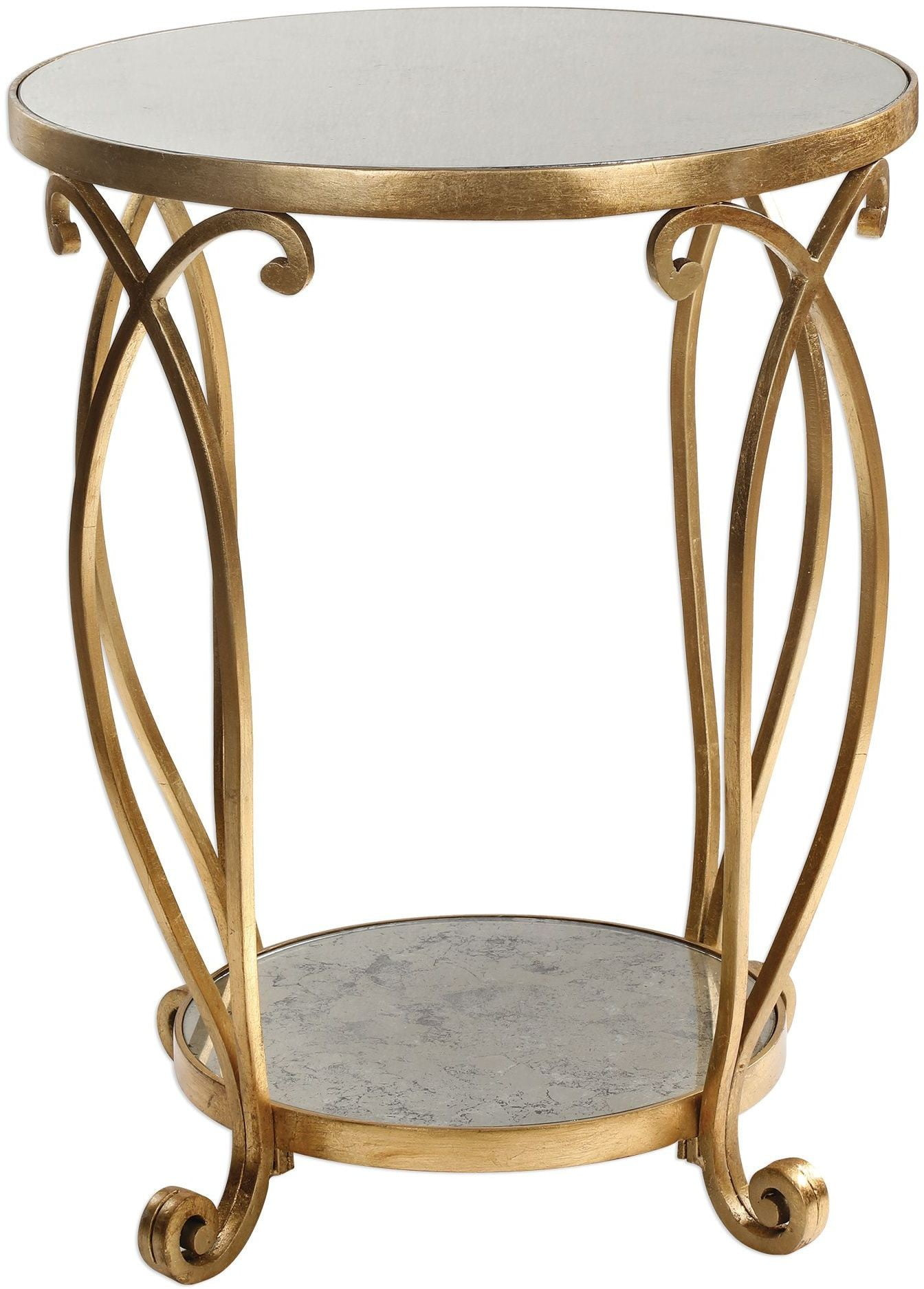 martella round gold accent table from uttermost coleman furniture furn outside and chair covers clear trunk coffee deck end tables ashley chicago wicker small entryway cabinet
