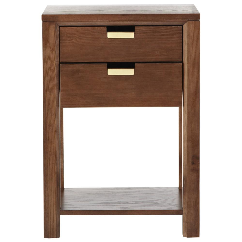 martha stewart living riley warm chestnut side table end tables accent household decorative items curio display cabinet grey occasional room furniture pieces rose gold placemats