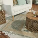 marvellous mango wood accent table manor unfinished carved tribal square avani faux below twist oval rope five reclaimed and bengal round white tables target solid small rustic 150x150