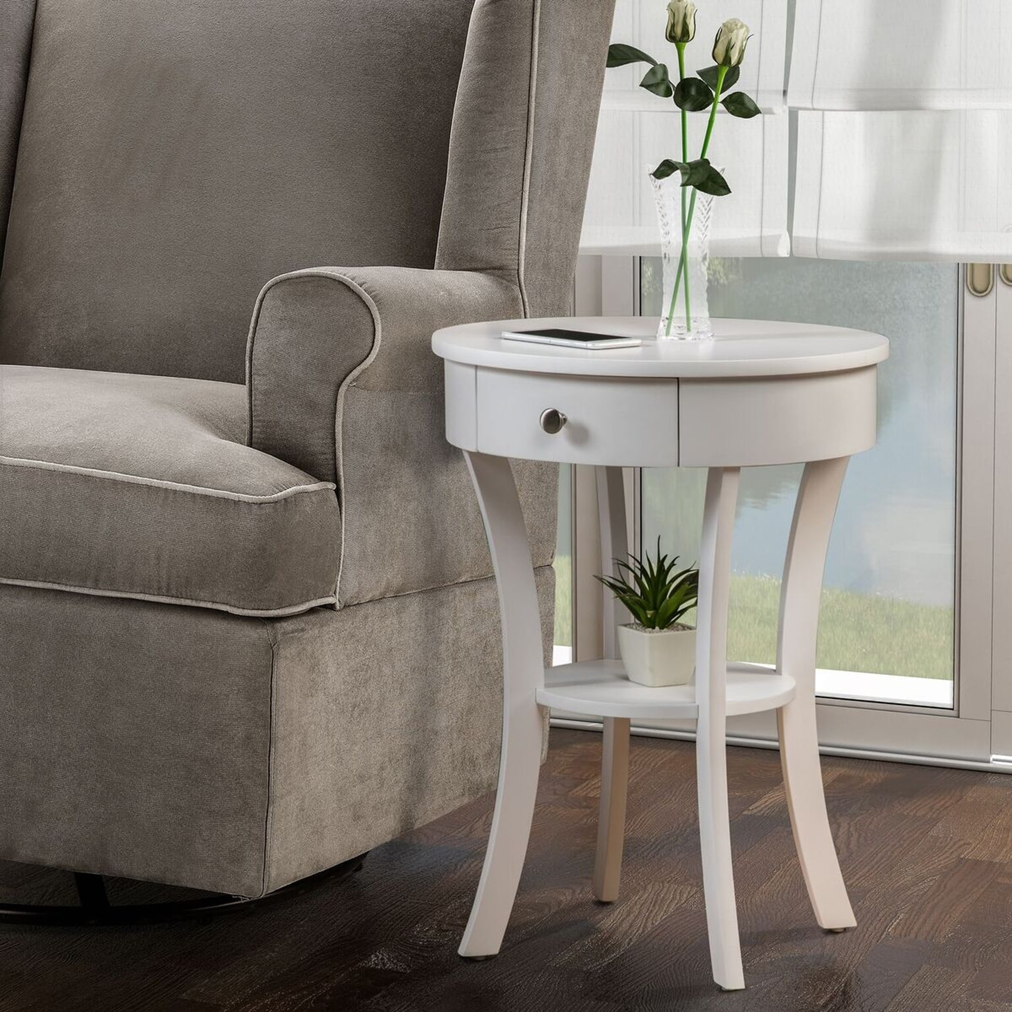 marvellous modern round pedestal side table paula deen tall antique distressed wood accent rene white grey small roundhill diy furniture wooden large black home full size pier one