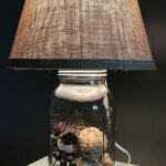 mason jar lamp distressed table rustic accent lamps creative farmhouse burlap glass base ready fill christmas gift diy round dining west elm night tables western floor bedroom 150x150