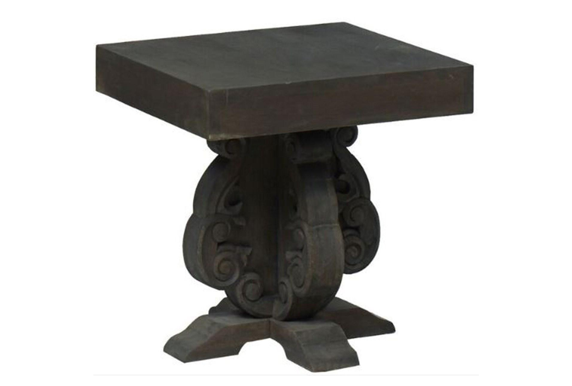 masonry accent table living spaces grey wood carved large view antique looking end tables stacking target agate navy blue side hardwood white round mid century modern dining