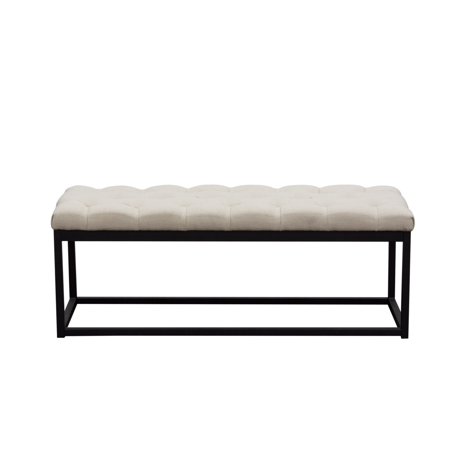 mateo black metal small linen tufted bench desert sand mateobessd signy drum accent table tap pinch zoom sofa tables cabinet with doors patio chair cushions saddle stool dining