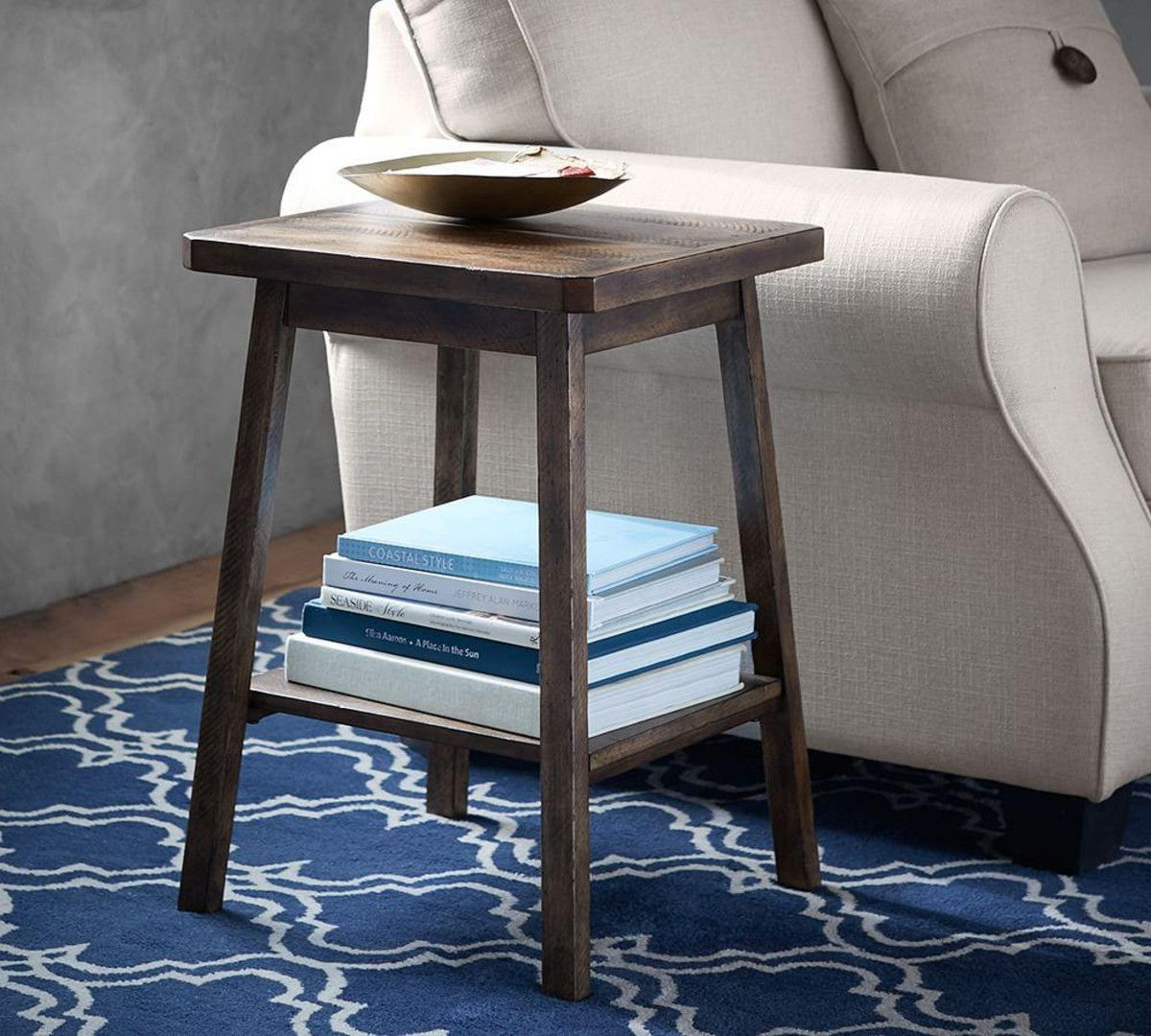 mateo side table home rustic pottery and barn jamie accent ikea kids storage solutions white granite coffee wood dining room furniture affordable living silver metal sofa for
