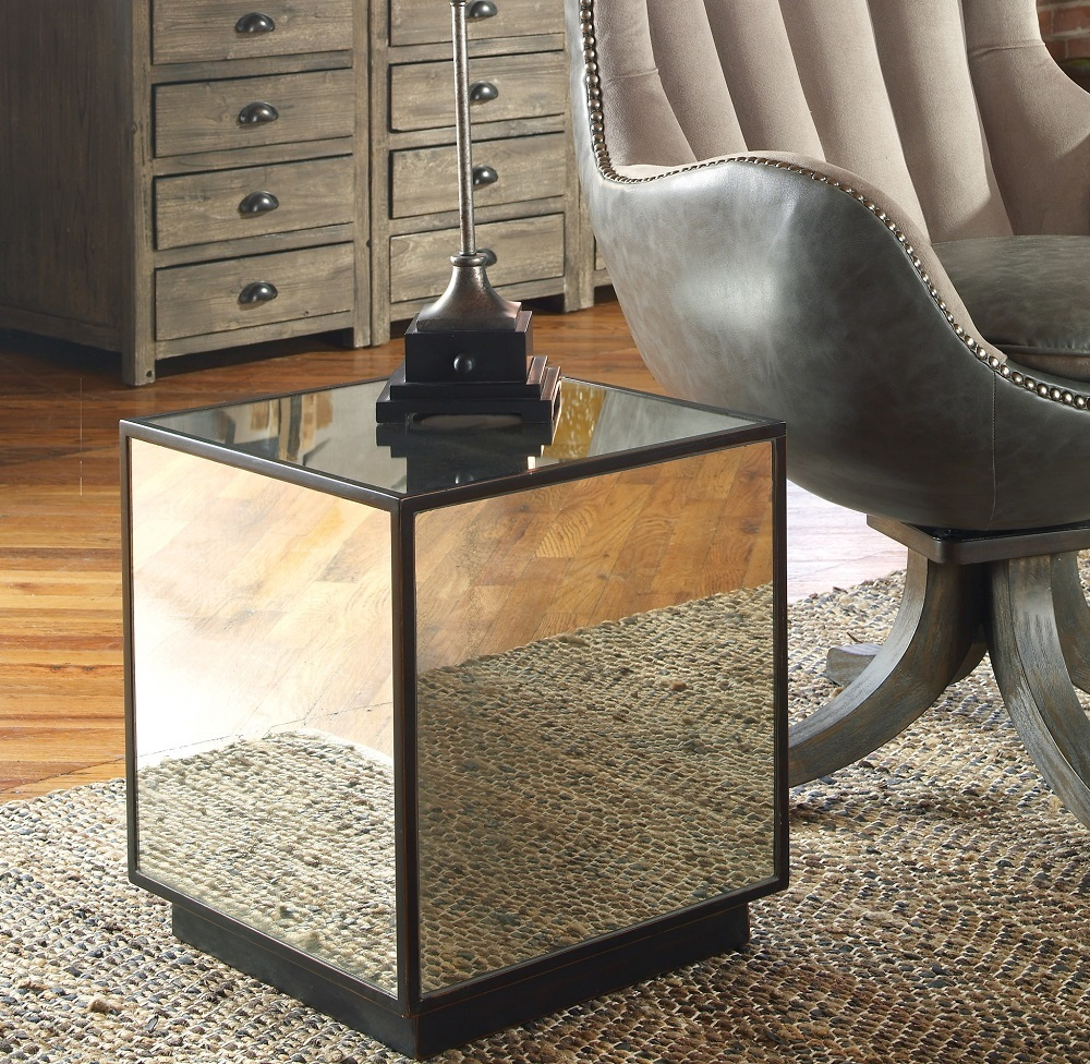 matty cube mirrored side table zin home accent outdoor nesting tables bbq grill modern lamp designs malm coffee dale tiffany dragonfly shade yellow target narrow nest pottery barn