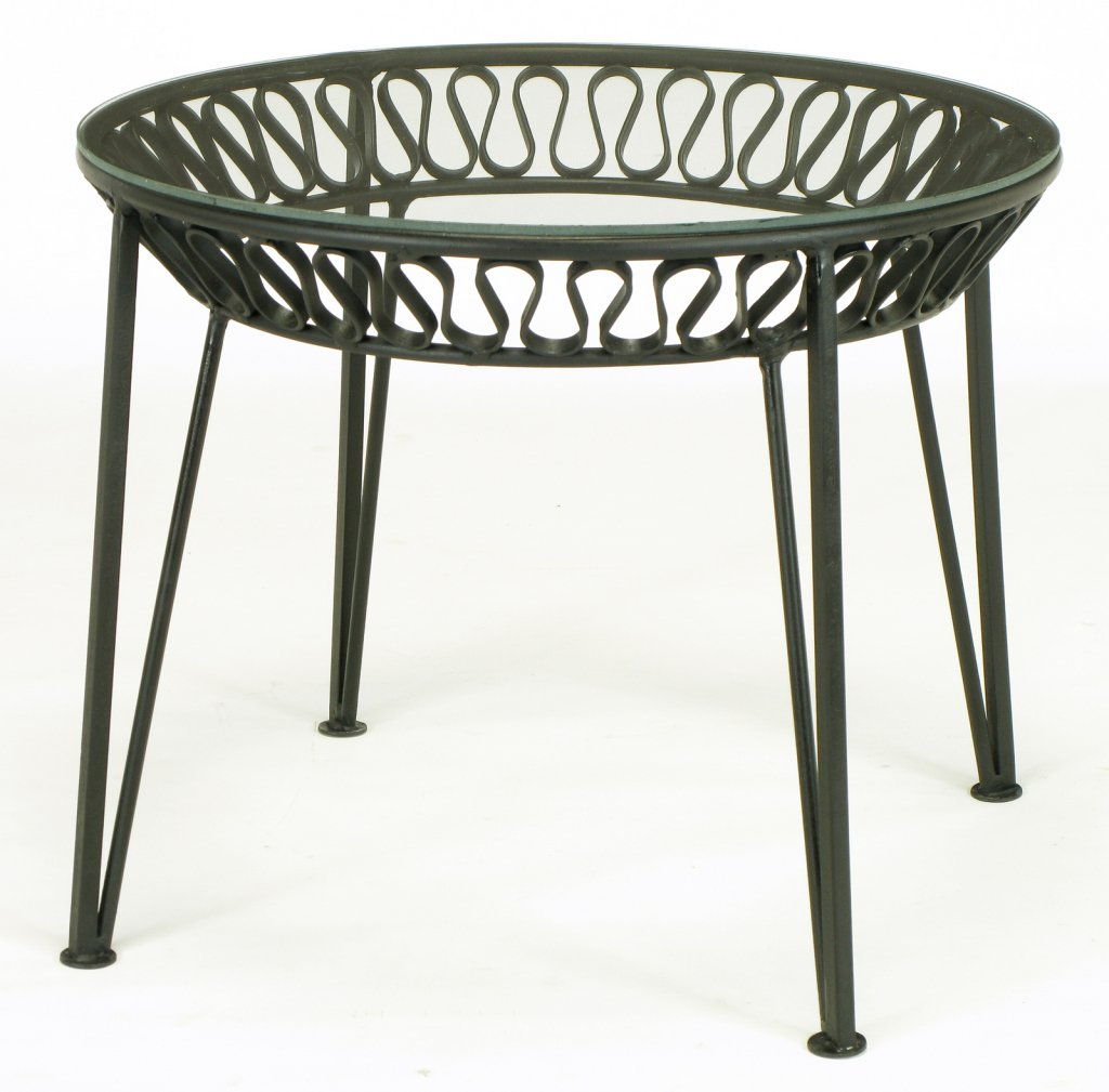maurizio tempestini for salterini wrought iron side table patio accent tables small metal white furniture company bistro narrow end echo dot speaker outdoor folding black corner