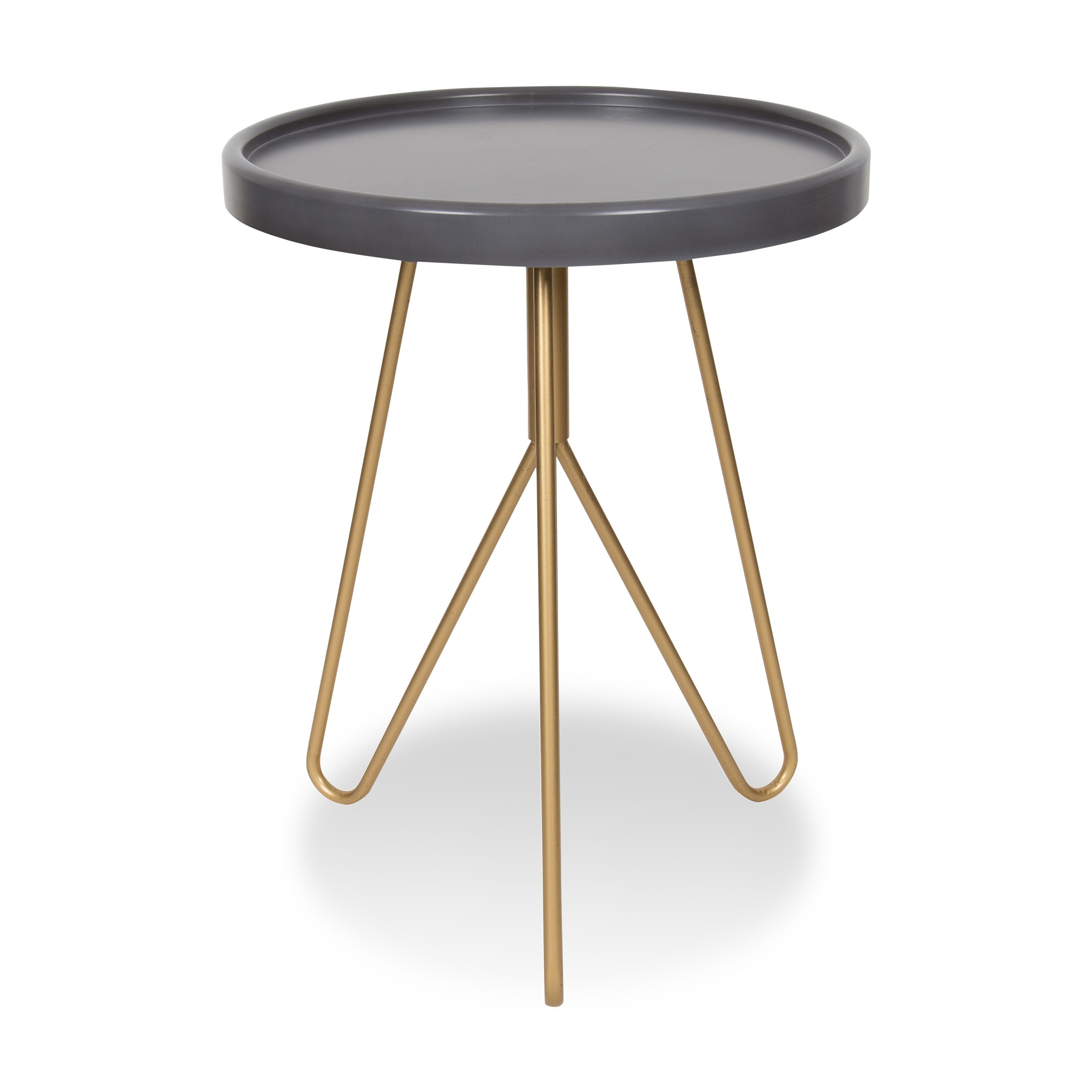maxey inch round tall side table gray and gold outdoor accent free shipping today wooden patio with umbrella hole stein world multi drawer chest hand painted dress chrome coffee