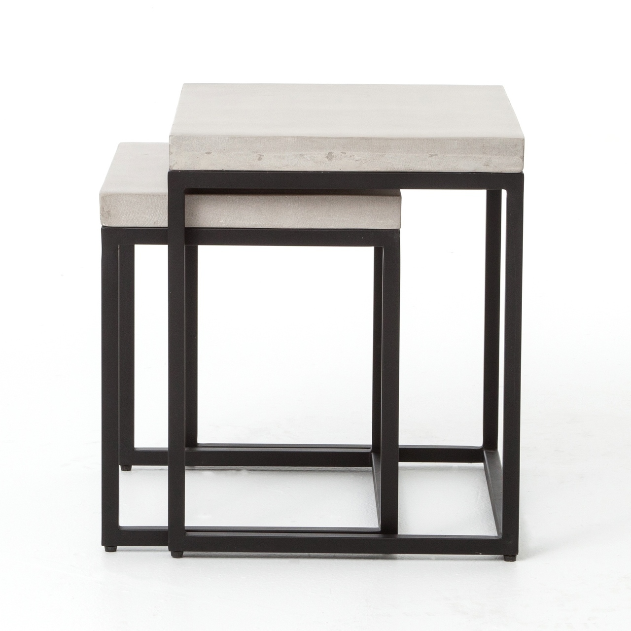 maximus indoor outdoor nesting side tables natural concrete vcns sid table plastic wicker glass with shelf white and gold console pier one dining room small patio furniture sets
