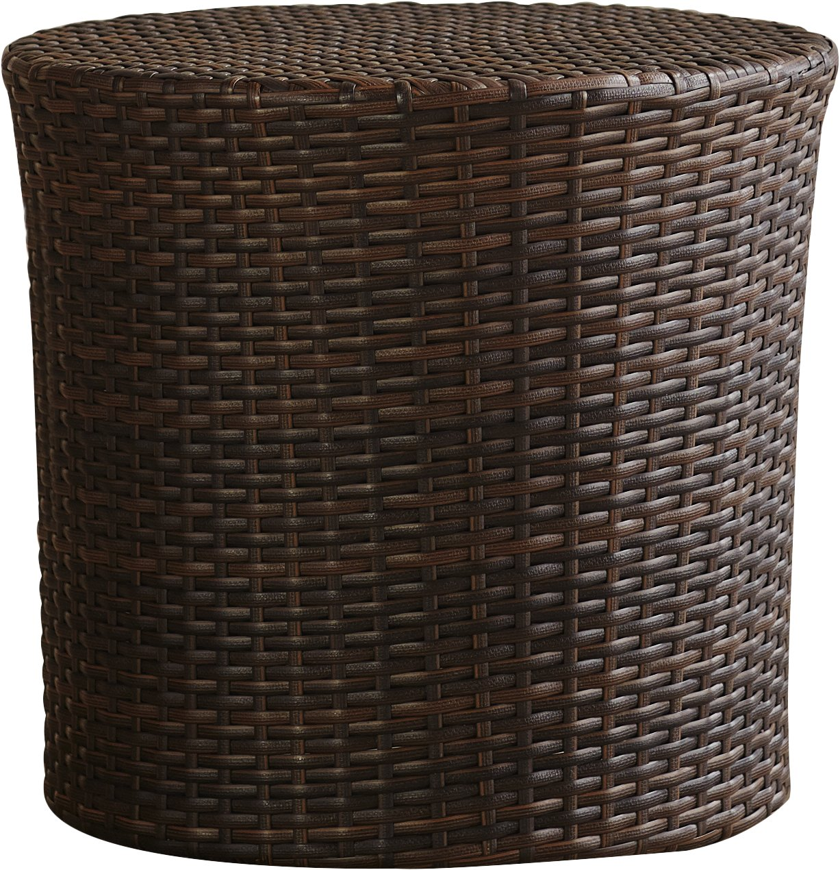 mazzella barrel wicker side table reviews outdoor brown dale tiffany dragonfly lily lamp stained glass standing round granite top coffee luxury living room furniture pier dining