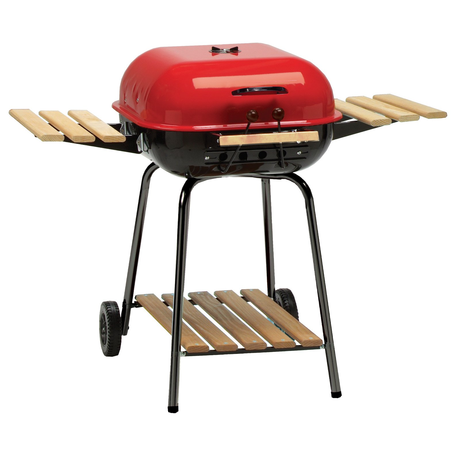 meco americana inch charcoal bbq grill with adjustable cooking outdoor side table for grate and composite wood folding tables red round accent tablecloth weathered furniture small