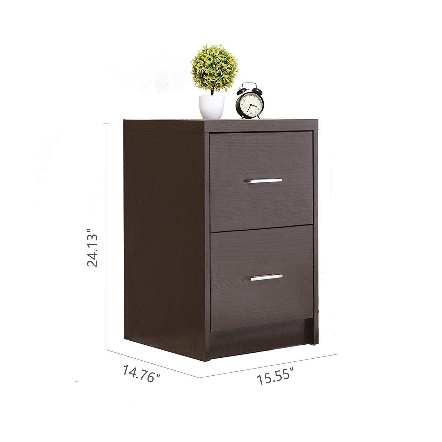 mecor nightstands end table with drawers mdf square winsome accent instructions bedroom furniture espresso finish set kitchen dining outdoor coffee tall crystal lamps wicker mid