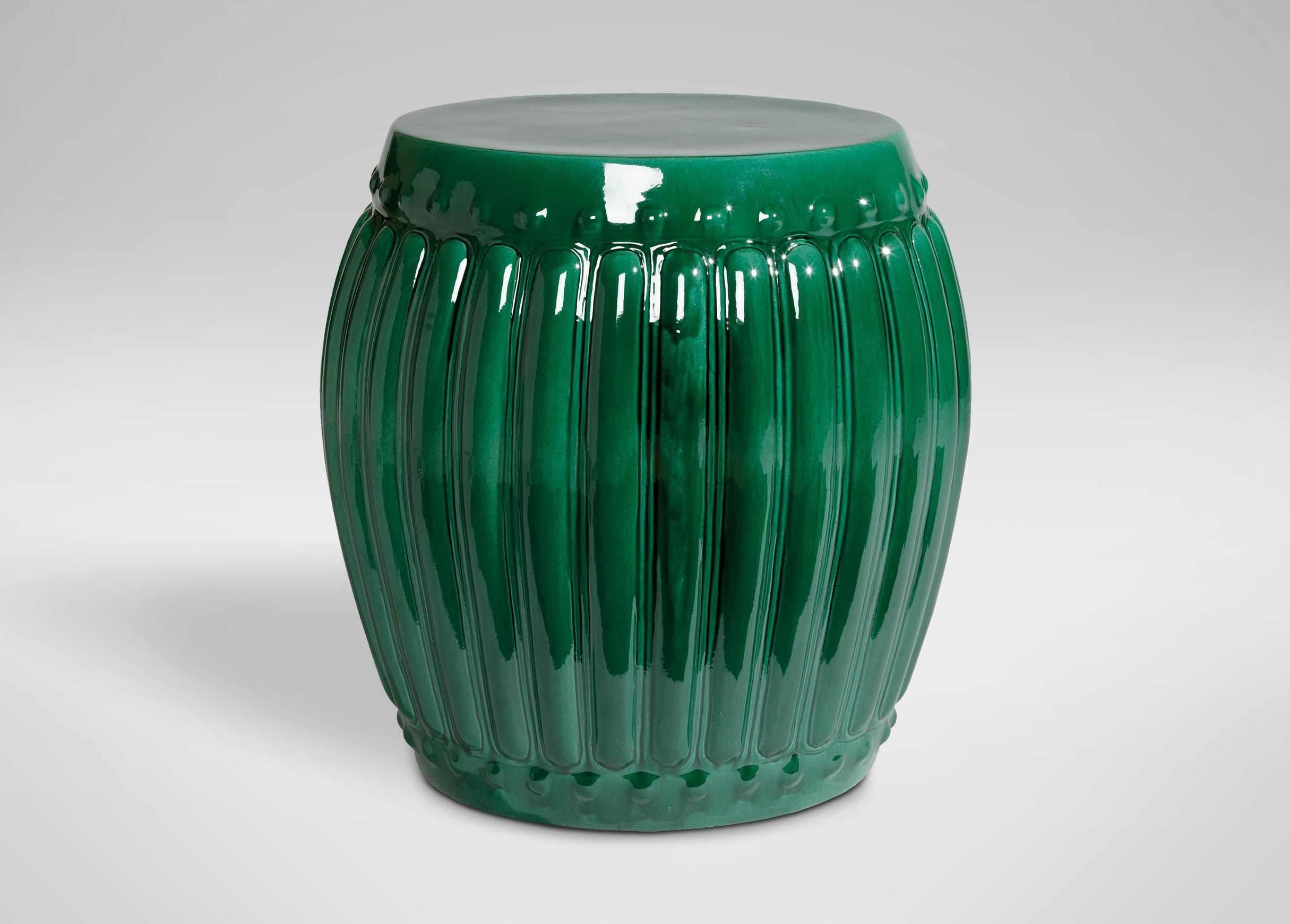 meet the emerald drum one many that are apart garden seat ceramic accent table collection this shape stool adds perfect pop color any space modern end with storage threshold