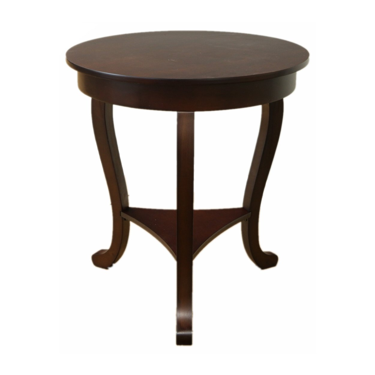 megaware furniture large burl accent table atg skinny wood round tables marble top pub set oversized armchair behind sofa cast iron parasol base yellow dragonfly tiffany style