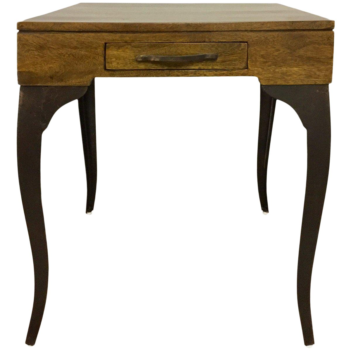 melange accent storage end table with cabriole legs one drawer wooden top living room wood and metal furniture natural chairish outdoor corner modern tables white bedside unit