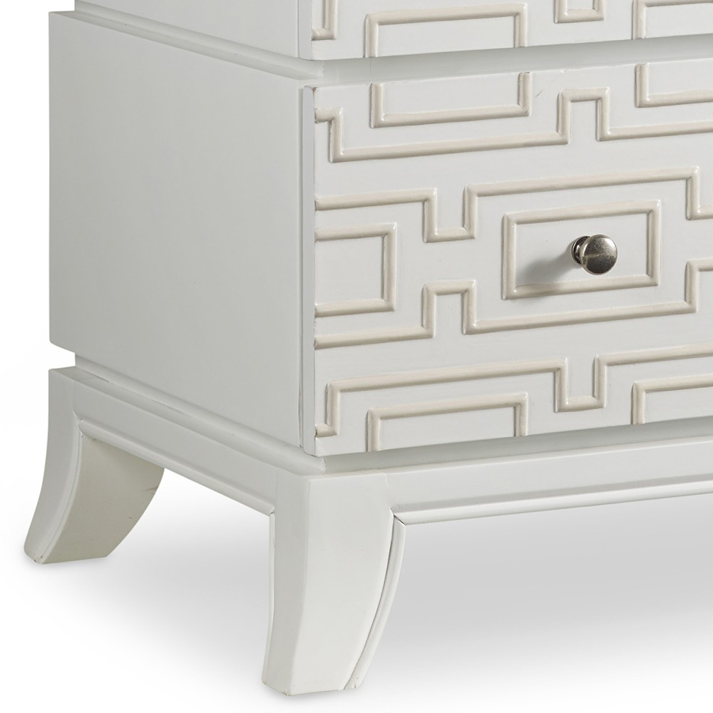 melange descano wood three drawer accent chest brilliant white melangedescano threedraweraccentchest brilliantwhite hookerfurniture table mission style lighting barewood furniture