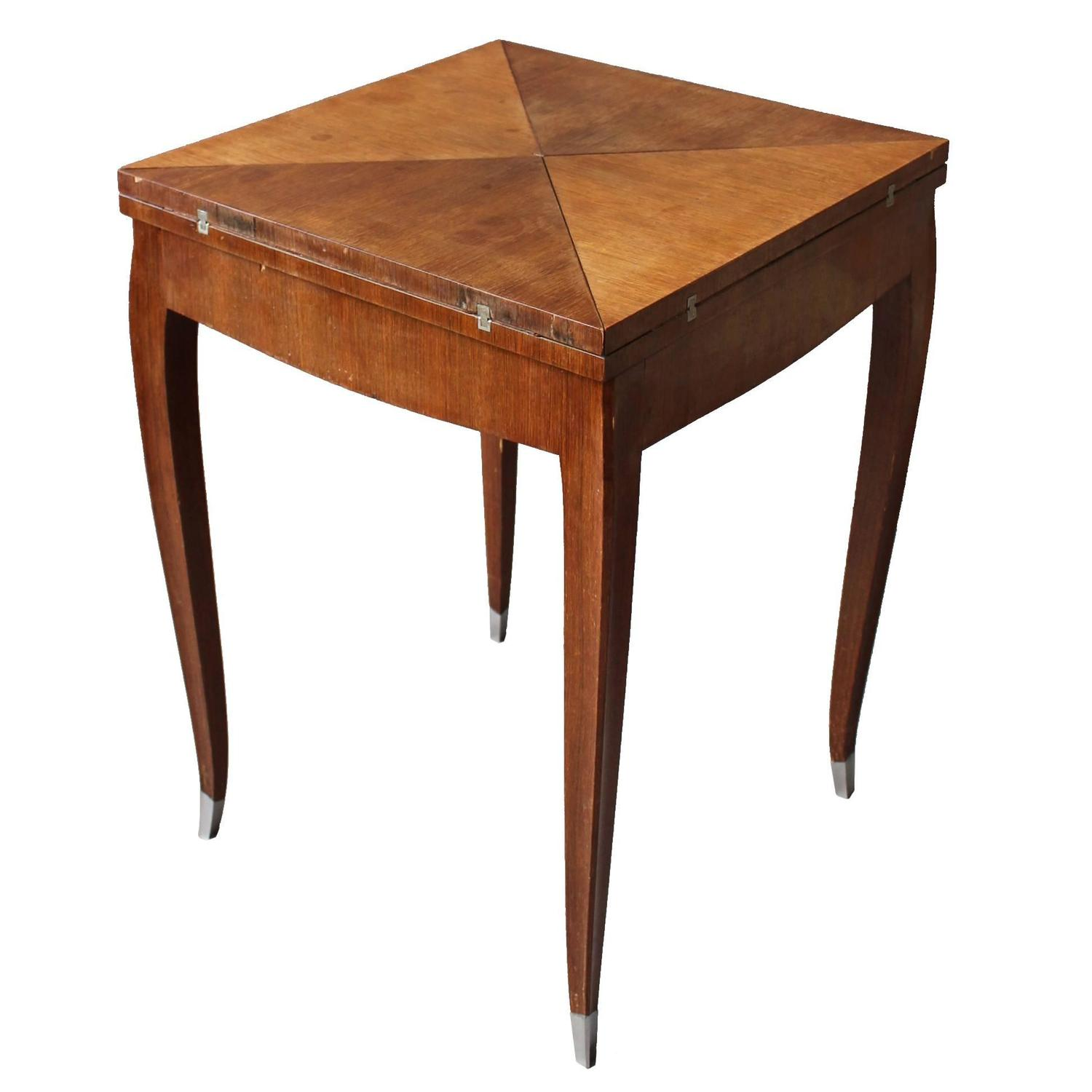 meldan furniture country french louis style triangle game accent table jeux mouchoir fine art deco rosewood envelope side dining room height duke pottery barn small metal bedside
