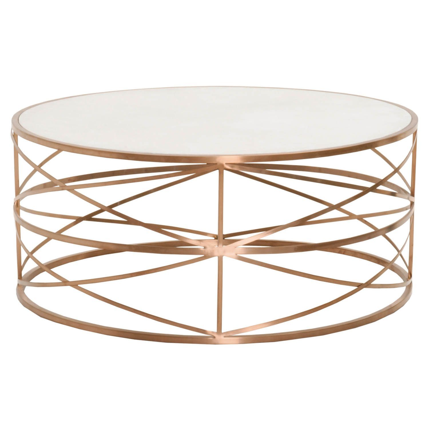 melrose round coffee table brushed rose gold living room accent phoenix furniture lamps brass nest tables bench white end contemporary marble dining trestle height very narrow