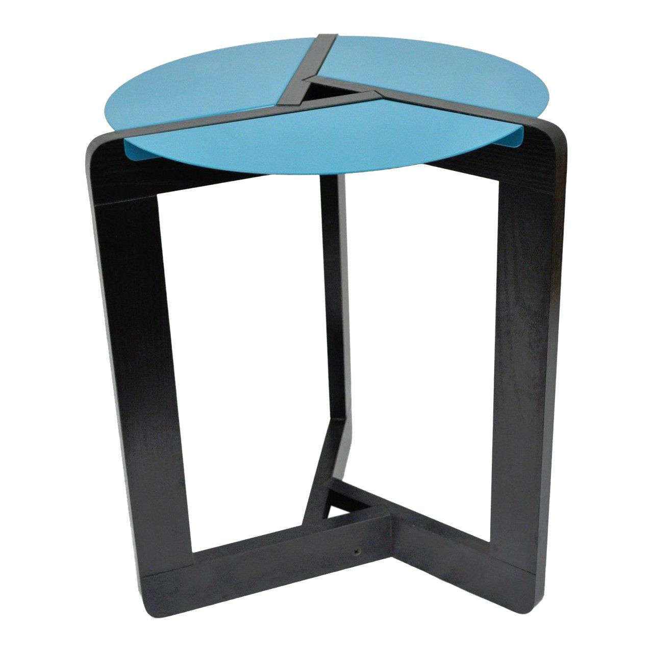 memphis style post mid century modern black blue metal round side and accent table chairish target pink marble pebble light wood end tables patio tiles credenza furniture ice