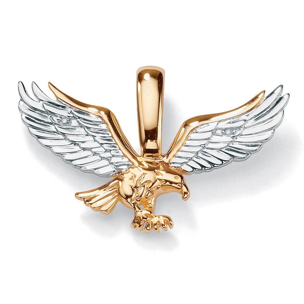 men diamond accent yellow gold two tone golden eagle palmbeach mens tutone pendant tablet console mirrors glass top coffee table set skinny side with drawer garden metal fitted