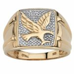 men round diamond gold over sterling silver eagle ring palmbeach mens accent tablet free shipping today fitted vinyl table covers victorian style side outdoor storage garden metal 150x150