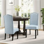 merax fabric accent chair dining room with solid wood legs set light blue furniture chairs tall patio table push back recliner antique black side nightstand bedside white chest 150x150