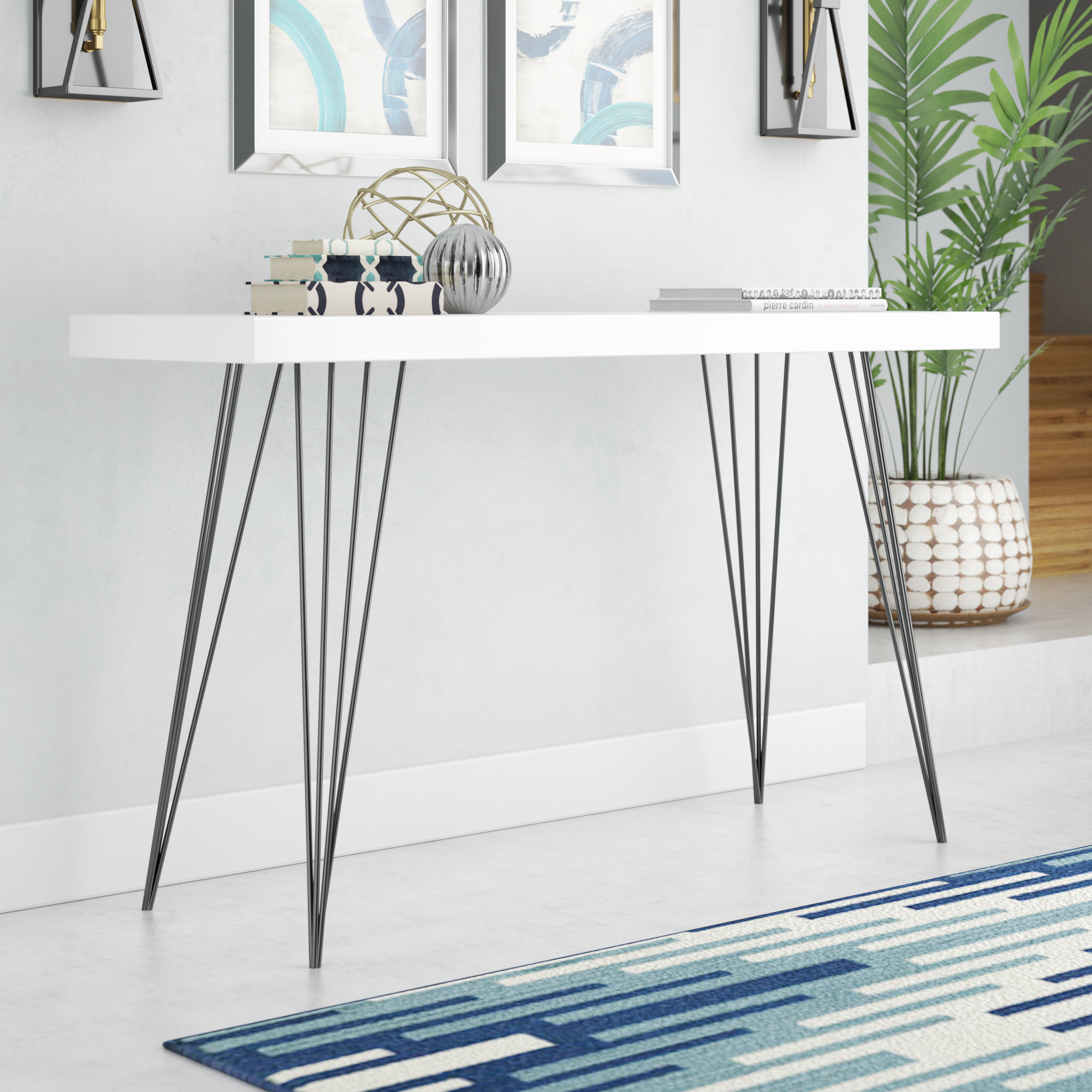 mercury row arcuri console table reviews mawr metal accent inch wide timber legs island county grey wicker patio furniture painted white marble coffee acrylic round clearance