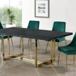 meridian furniture gold accent dining table elle karina green piece set today round patio drop leaf breakfast extra long runners cordless lamps globe lighting portland hammered 150x150