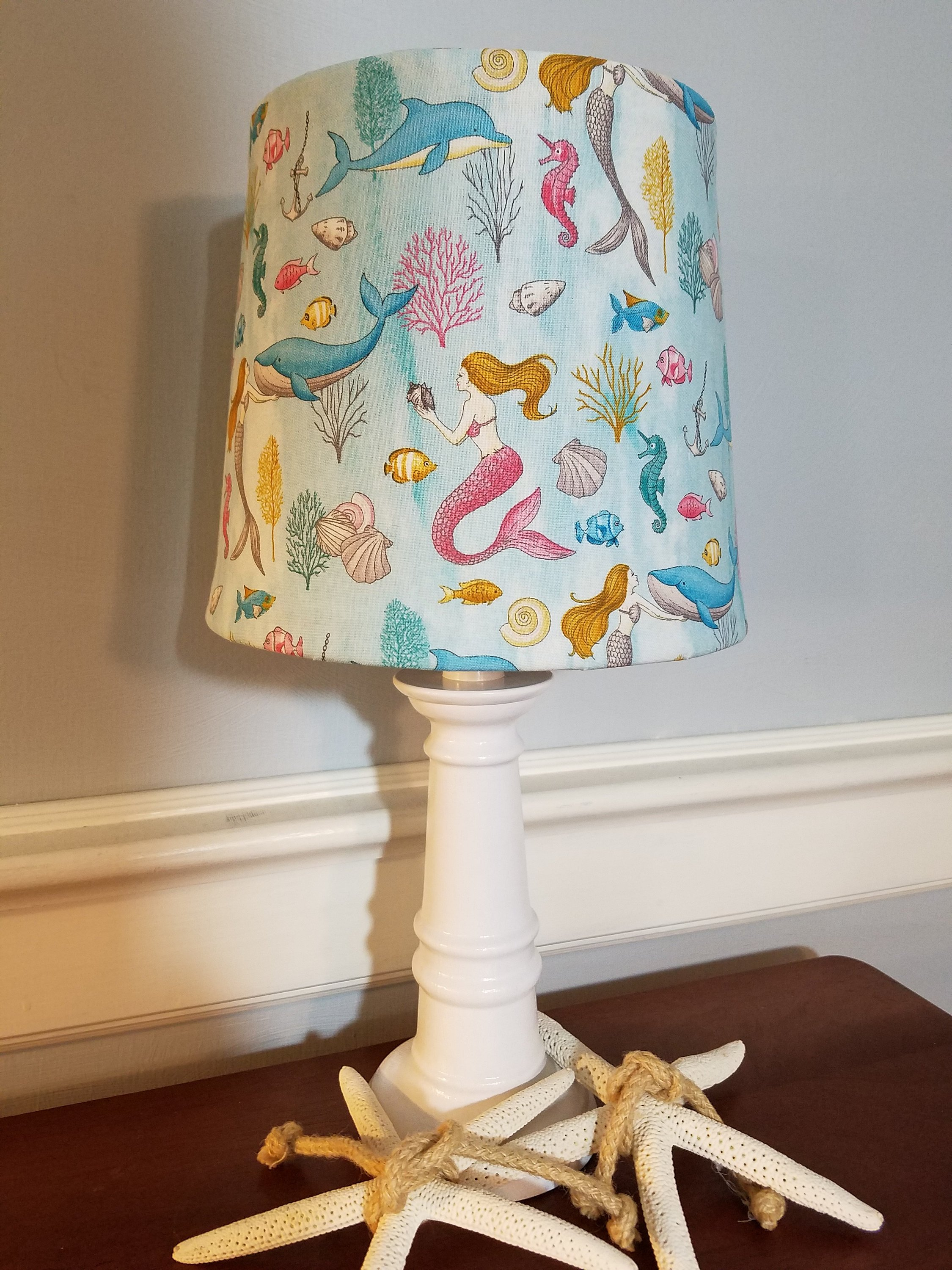 mermaid accent nursery lamp girl nautical theme etsy fullxfull table lamps bathroom floor storage cabinet clearance deck furniture homemade wood coffee gray chair monarch hall