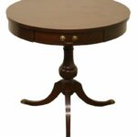 mersman solid cherry round pie crust accent end table patio and chairs shabby chic desk mimosa outdoor furniture bunnings kidney shaped coffee small brass side garden home 150x150