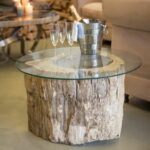 mesmerizing petrified wood accent table tures ideas surripui wrought iron legs best coffee designs square nesting tables unfinished dining chairs yellow side mudroom furniture 150x150